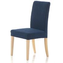Multielastický poťah na stoličku Petra modrá, 40 - 50 cm, sada 2 ks