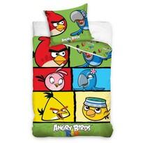 Detské bavlnené obliečky Angry Birds 7007, 140 x 200 cm, 70 x 80 cm