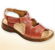 Orto Plus Dámské sandály s přezkou vel. 40 lososová