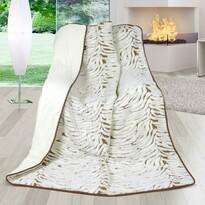 Vlněná deka DUO New Zealand Zebra, 155 x 200 cm