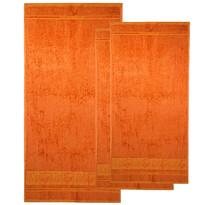 4Home Sada Bamboo Premium osuška a uterák oranžová, 70 x 140 cm, 2x 50 x 100 cm
