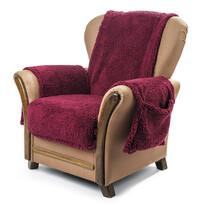 4Home Narzuta na fotel z kieszeniami winny, 65 x 150 cm, 2 szt. 40 x 80 cm