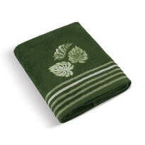 Ręcznik kąpielowy Monstera zielony