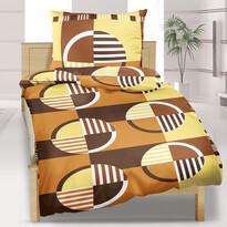Bavlnené obliečky Kolesá hnedá, 140 x 220 cm, 70 x 90 cm