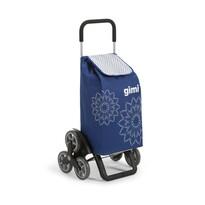 Gim Tris Floral nákupná taška na kolieskach modrá
