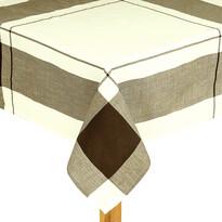 Ubrus kostka hnědá, 140 x 180 cm