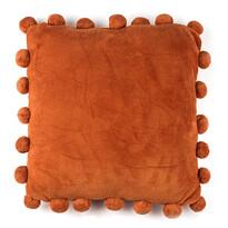 Vankúšik Pompon oranžová, 45 x 45 cm