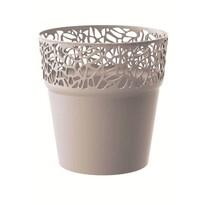Obal na kvetináč Naturo kávová, pr. 17,5 cm