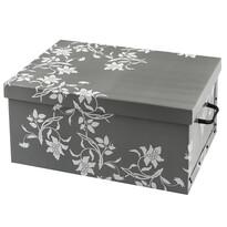 Úložný box Ornament 51 x 37 x 24 cm, sivá