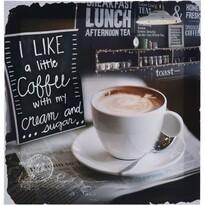 Obraz na plátně Café Lucca, 29 x 29  cm