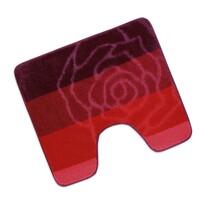 Kúpeľňová predložka Elli Ruža červená WC, 60 x 50 cm