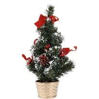 Vánoční dekorovaný stromeček, červená