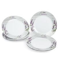 Jídelní talíř mělký Levandule, 6 ks, 23 x 2,5 cm