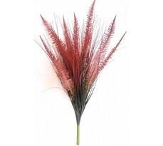 Umělá kytice trávy burgundy