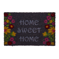 Rohožka Sweet Home flowers sivá, 40 x 60 cm