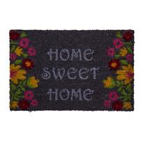 Wycieraczka Sweet Home flowers szary, 40 x 60 cm