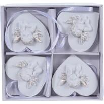 Sada vianočných dekorácií Angelic heart, 4 ks