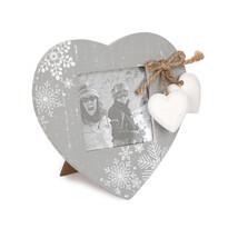 Fotorámček Love Winter sivá, 14 x 14,5 cm