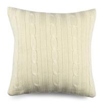 Duo kötött párnahuzat krém színű, 45 x 45 cm