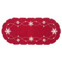 Vánoční ubrus Vánoční hvězda červená