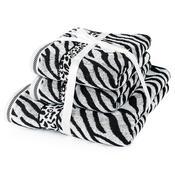 Sada ručníků a osušky Zebra bílá