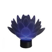 3D LED lampa Lotosový kvet