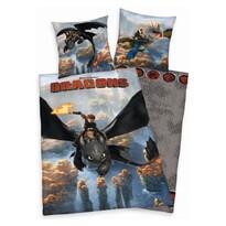 Detské obliečky Dragons - Ako vycvičiť draka, 140 x 200 cm, 70 x 90 cm