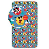 Cearşaf Mickey Mouse, din bumbac, pentru copii,  2017, 90 x 200 cm