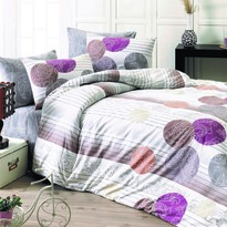 Bavlnené obliečky Kamelya tmavofialová, 140 x 200 cm, 70 x 90 cm