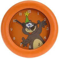 Zegar ścienny Teddy bear pomarańczowy, 26 cm