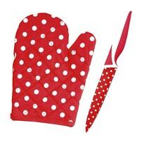 Teflonový nůž s chňapkou ZDARMA červená