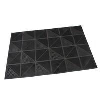 Covoraş de intrare Triangles, tip perie, 40 x 60 cm