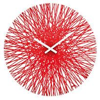 Nástěnné hodiny Silk červená