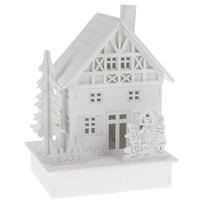 Family dekoratív LED házikó, 16 cm