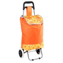 Geantă de cumpărături pe roţi Daisy, portocalie