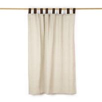 Zasłona płócienna brązowy, 140 x 160 cm