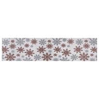 Travesă Fulgi de nea albă, 33 x 140 cm