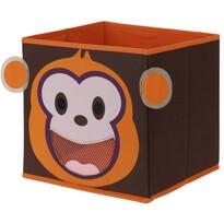 Textilný úložný box Opička, 28 x 28 x 28 cm