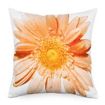Obliečka na vankúšik oranžový kvet, 45 x 45 cm