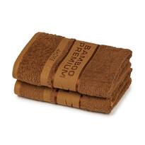 4Home Bamboo Premium ręczniki brązowy, 50 x 100 cm, 2 szt.