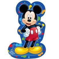 Mickey blue formázott párna, 31 x 19 cm