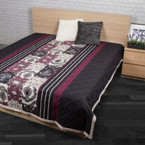 Přehoz na postel Paolina fialová, 240 x 220 cm