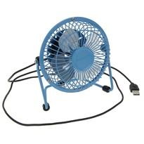 Ventilator USB albastru, 13,5 x 11 x 15 cm