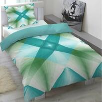 Saténové obliečky Air modrá, 140 x 200 cm, 70 x 90 cm