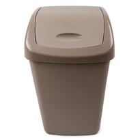 Odpadkový plastový výklopný kôš 15 l, hnedá