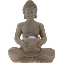 Solárna lampa Budha, 31 cm
