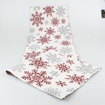 Běhoun Vločky bílá, 33 x 140 cm