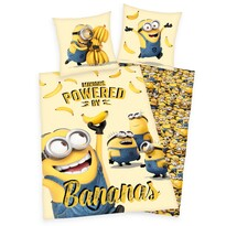 Detské bavlnené obliečky Mimoni Bananas, 140 x 200 cm, 70 x 90 cm