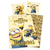 Dětské bavlněné povlečení Mimoni Bananas, 140 x 200 cm, 70 x 90 cm