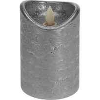 Dekoračná LED sviečka strieborná, 15 cm